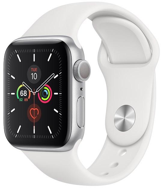Apple Watch Series 5 44mmシルバーホワイトスポーツバンド(VD2)