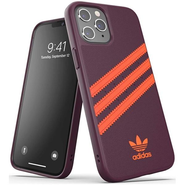 Adidas 3-Stripes Snap Case for iPhone 12 Pro Max Maroon/Solar Orange