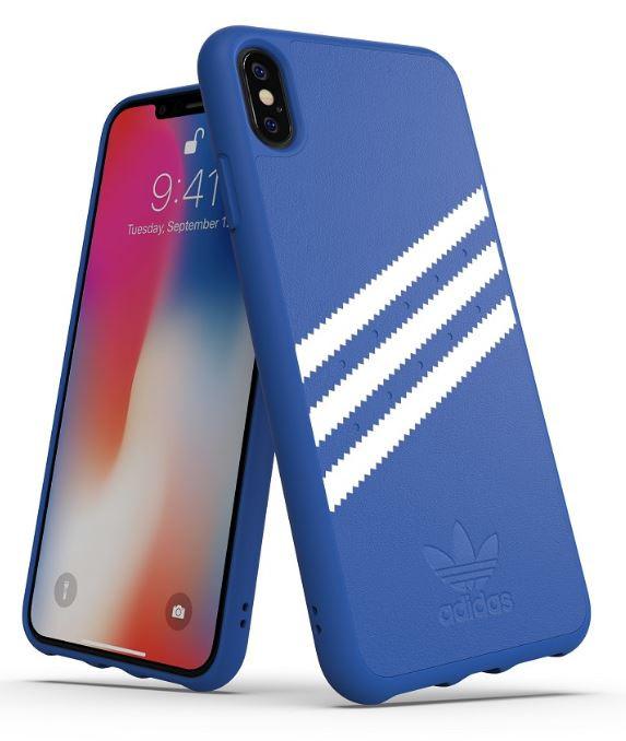 Adidas Iphone XS (2018) Stripes Snap Back Phone Case Blue-White