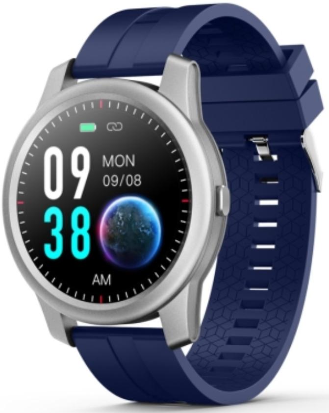 ELEPHONE R8 1.3 Waterproof Smart Watch Silver Case With Blue Strap