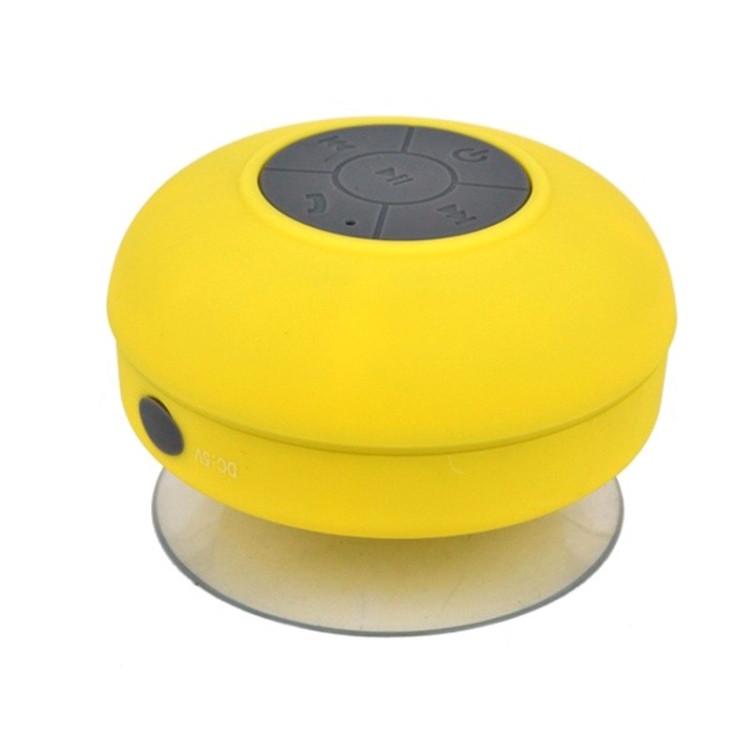 Mini Portable Subwoofer Shower Wireless Waterproof Bluetooth Speaker (Yellow)