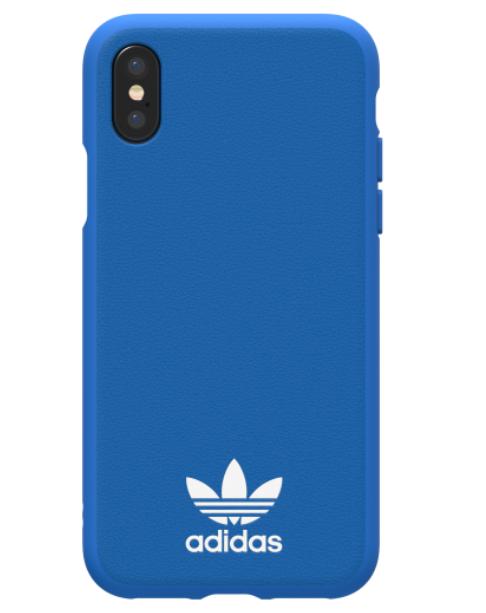 Adidas iPhone X Moulded Back Phone Case Bluebird Logo