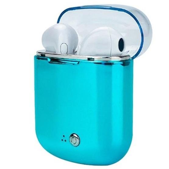 I7s Binaural Wireless Bluetooth TWS Earphone with Charging Bin Plating (Blue)