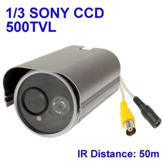 1 / 3 SONY 500TVL Digital Color Video CCTV Waterproof Camera, IR Distance: 50m
