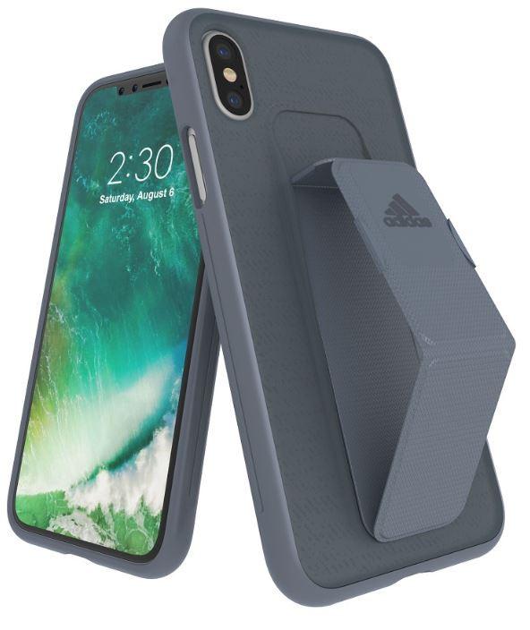 Adidas Iphone XS (2018) Sport Edition Grip Back Phone Case Grey
