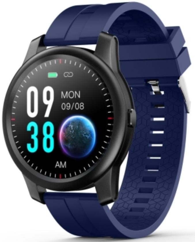 ELEPHONE R8 1.3 Waterproof Smart Watch Black Case With Blue Strap