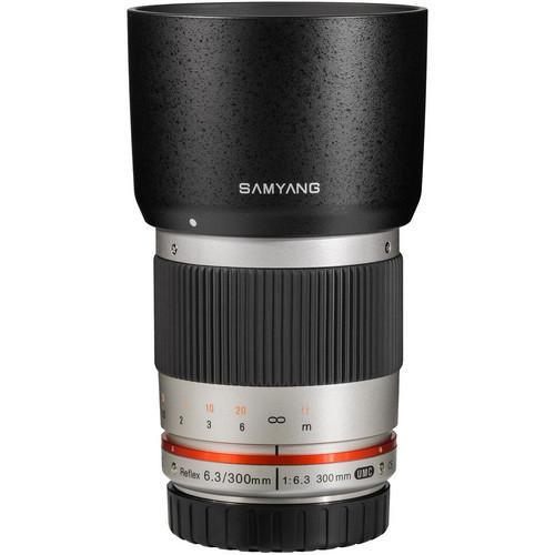 Samyang 300mm f/6.3 Mirror Lens Silver (E-mount)