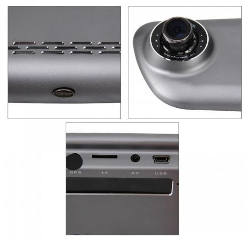 Car DVR - 7 inch Touch Screen Display & Full HD 1080P