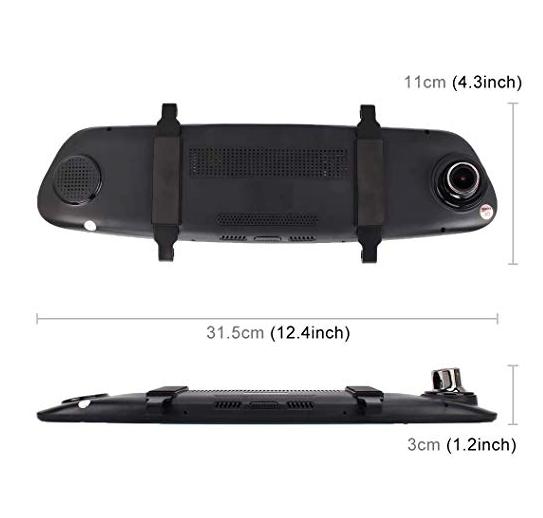 Car DVR - 5.0 Mega Pixels 170 Degrees Wide Angle Full HD 1080P