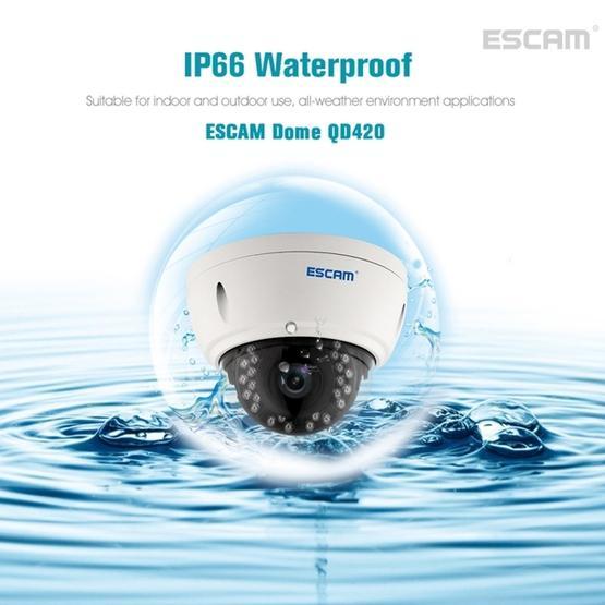 ESCAM Dome QD420 Waterproof 4.0MP Dome IP Camera