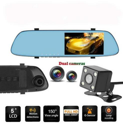 Car DVR - Anytek T22 5 inch IPS Touch-Screen Dual Lens FHD 1080P