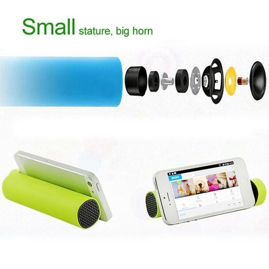 3 in 1 4000mAh Power Bank + Smartphone Stand + Speaker (Green)