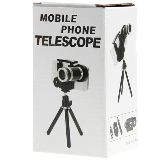 8X Universal Zoom Telescope Lens with Tripod