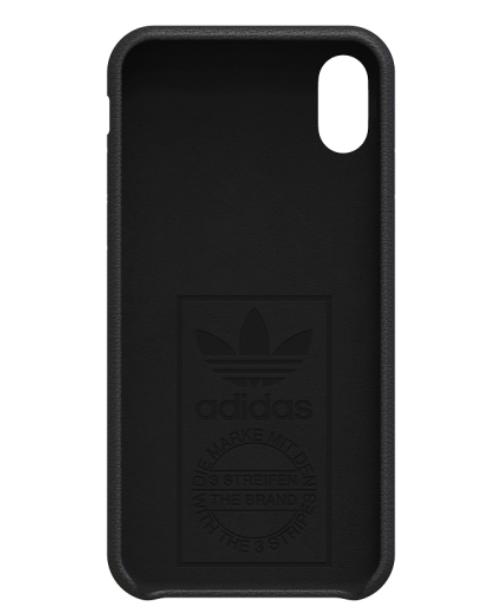 Adidas iPhone X Leather Phone Case Black