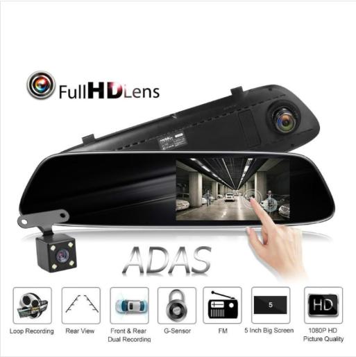 Car DVR - Anytek T33 5.0 Inch Dual Lens