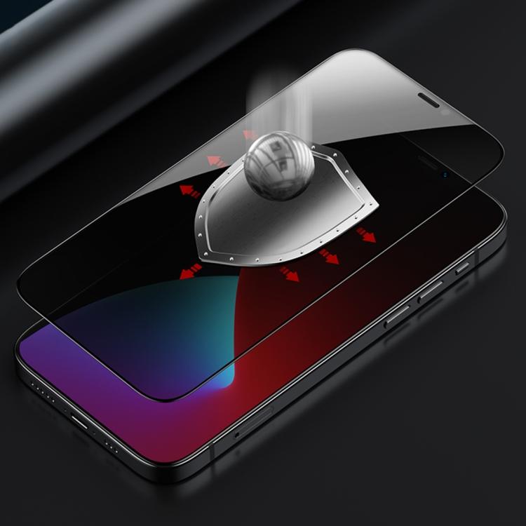 Benks V Pro+ Series 0.3mm HD 28 Degree Anti-peeping Full Screen Tempered Glass Film for iPhone 12 mini