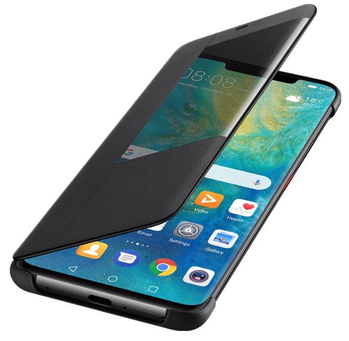 Huawei Mate 20 X Smart View Flip Phone Cover Black