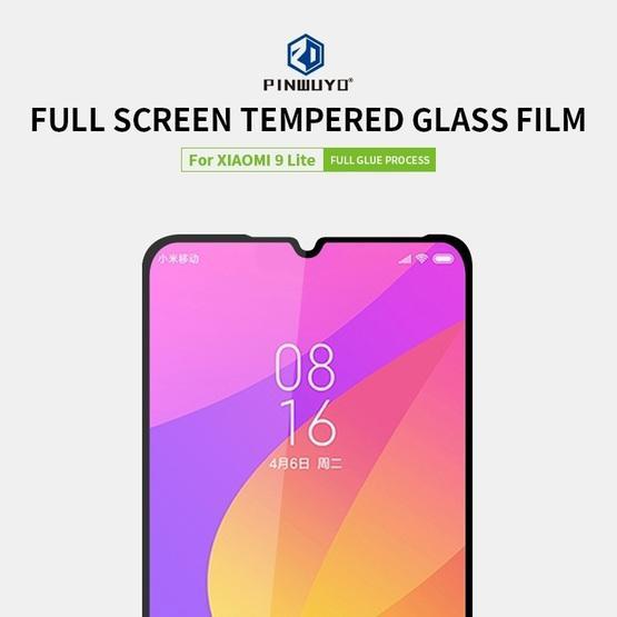 For Xiaomi 9 Lite PINWUYO 9H 2.5D Full Screen Tempered Glass Film(Black)