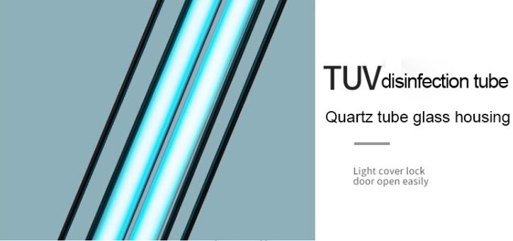Desktop UV Light Lamp Disinfection Anti-virus Sterilization Lamp Bar Strip with Remote Control (60W) (3 Pin CN Plug)