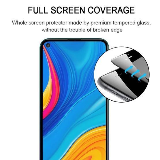For Huawei Enjoy 10 Full Glue Full Cover Screen Protector Tempered Glass Film