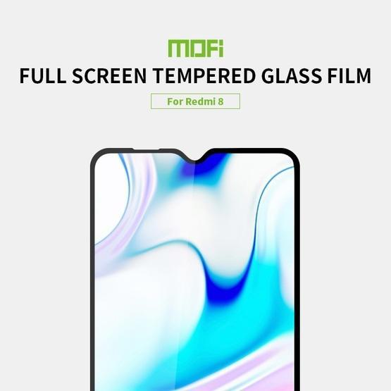 For Xiaomi RedMi 8 MOFI 9H 2.5D Full Screen Tempered Glass Film(Black)