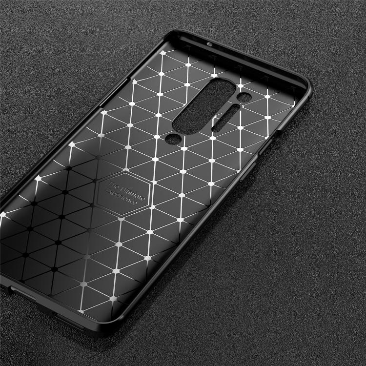 Carbon Fiber Texture Shockproof TPU Case for OnePlus 8 Pro (Black)