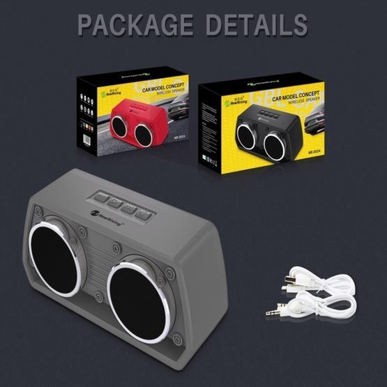 NewRixing NR-2024 Car Model Concept Design Bluetooth Speaker(Blue)